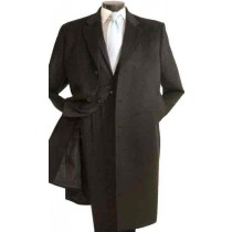 3/4 Length 3 button Stylish Car Coat in Cashmere Charcoal