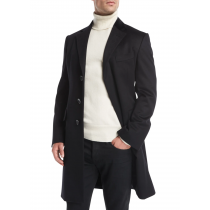 Chesterfield Coat - Chesterfield Wool and Cashmere Overcoat, black overcoat