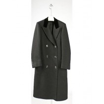 Chesterfiled Overcoat - Chesterfiled Three Qurter Mens Coat - Mens Black Overcoat - Mens Black Topcoat
