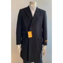 Chesterfield Overcoat - Chesterfield Three Quarter Mens Coat Wool Cashmere Topcoat + Black By Alberto Nardoni