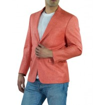Alberto Nardoni One Ticket Pocket Coral Linen