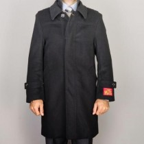 Black Wool/ Cashmere Blend Zipper closure fully lined coats