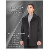 Car Coat Wool/Cashmere Black - Cashmere Topcoat - Mens Cashmere Overcoat - Cashmere Coat