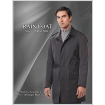 Single breasted Fully lined Raincoat - Trench Coat Black