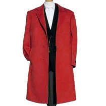 MENS ALBERTO NARDONI DARK RED WOOL OVERCOAT - MENS TOPCOAT