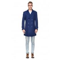 Mens Knee Length Pea coat  Blue Mens Peacoat