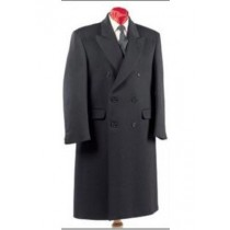Rafael Fully Lined Double Breasted Long mens long pea coat