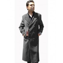Charcoal Grey Double Breasted Overcoat Full Length Top Coat