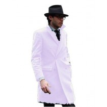 Mens Knee Length Pea coat Cream Color Mens Peacoat