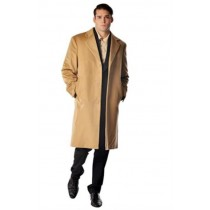 Men's Long Men's Dress Topcoat - camel Winter Coat - Overcoat