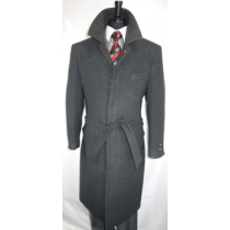 Falcone Overcoat - Grey Wool and Cashmere Peacoat
