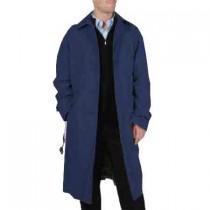 Mens Dark Navy Renny Full length Belted Raincoat
