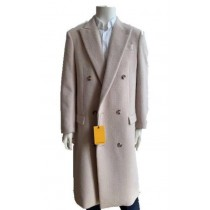 Mens Overcoat -Full Length-Topcoat -Cream