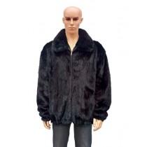 Men's Fur Full Skin Two Shade of Burgundy Color Fox Collar Jacket