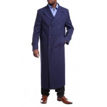 Fur Collars Mens Overcoat - Peacoat Wool and Cashmere By Alberto Nardoni