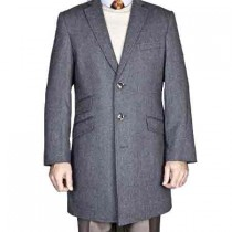 mens Dress Coat herringbone coat Gray Tweed Wool Blend Car coat