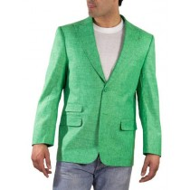 Alberto Nardoni Regular Fit Green Linen