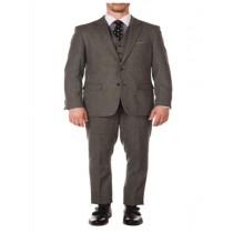 Grey British Herringbone Fabric Peak Blinder Slim Fit Suit