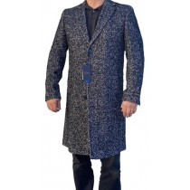 Black grey cashmere over coat – Carducci cashmere wool coats