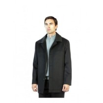 charcoal peacoat Long Length with Three Button Coat Outerwear