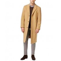 BREASTED CAMEL CASHMERE-BLEND OVERCOAT