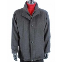 mens wool car jacket Warm Dress Solid Pattern Trendy - Mens Car Coat
