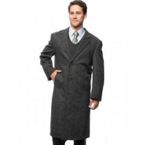 MICROFIBER FULLY-LINED HIDDEN BUTTONS DUSTER COAT