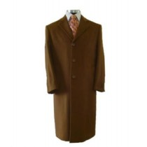 Vicuna coat Full Length Center Vent with Three Button Front - Light  - Brown - Overcoat Mens Topcoat