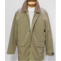 Khaki ¾ Rain Coat Notch lapel 2 slanted side hand warmer pockets
