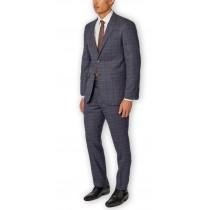Blue Plaid Alberto Nardoni Fully Lined Wool Overcoat