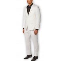 White Alberto Nardoni Fully Lined Wool Overcoat