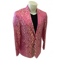 Alberto Nardoni Single Breasted Pink Mens Blazer