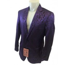 Alberto Nardoni Single Breasted Purple Mens Blazer
