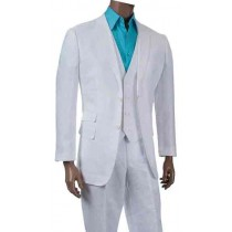 ALBERTO NARDONI WHITE OR NATURAL (TAN) VESTED LINEN SUIT