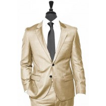 Alberto Nardoni Tan~Khaki~Taupe Vested Linen Wedding Suit