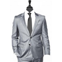 Alberto Nardoni Light Grey Vested Linen Wedding Suit