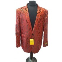 Alberto Nardoni Red Men Fashion Overcoat