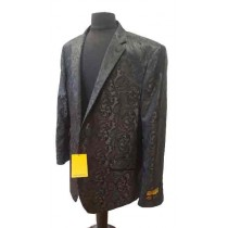 BLACK MEN PAISLEY DINNER JACKET TUXEDO