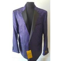 Alberto Nardoni Purple Notch Lapel Floral