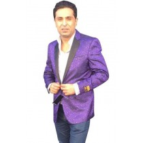 Alberto Nardoni Mens Purple Double Breasted sport coat