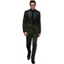 Alberto Nardoni Dark Green Shawl Lapel Wool Tuxedo Suit