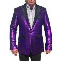 Alberto Nardoni Purple Shiny Sequin Jacket