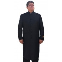 Alberto Nardoni Black Mandarin Collar Button Closure Suit
