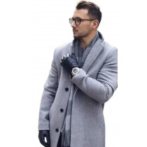 Alberto Nardoni Light Grey Silver Gray Wool Overcoat