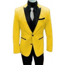 Two Button Closure Yellow Alberto Nardoni Tuxedo