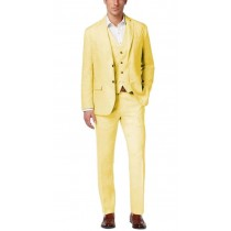 Two Button Alberto Nardoni Linen Overcoat In Yellow