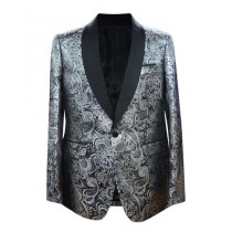 Shawl Lapel Silver Alberto Nardoni Sport Coat Blazer