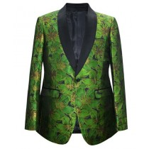 Green Paisley Pattern Alberto Nardoni Sport Coat Blazer