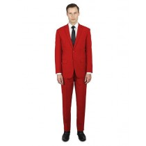 Alberto Nardoni Notch Lapel Classic Fit Suit In Red