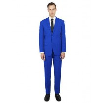 Alberto Nardoni Notch Lapel Classic Fit Suit In Royal